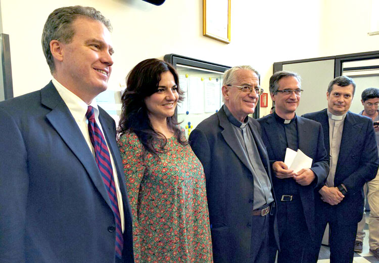 Greg Burke and Paloma García Ovejero - Director and Vice Director of the Holy See Press Office, and successors to Fr. Federico Lombardi.